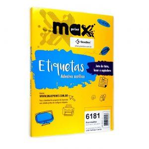 ETIQUETA 6181 C/ 100 FLS – MAXPRINT