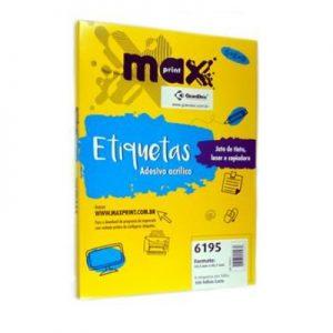 ETIQUETA 6195 C/ 100 FLS – MAXPRINT