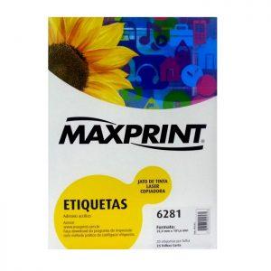 ETIQUETA 6281 C/ 25 FLS – MAXPRINT