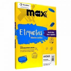 ETIQUETA A4365 C/ 100 FLS – MAXPRINT