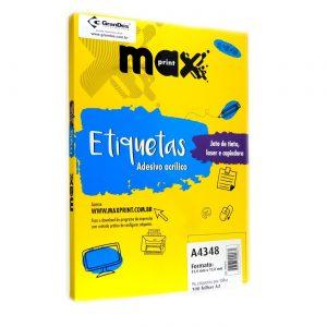 ETIQUETA A4348 C/ 100 FLS – MAXPRINT