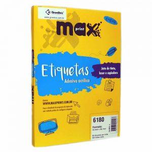 ETIQUETA 6180 C/ 100 FLS – MAXPRINT