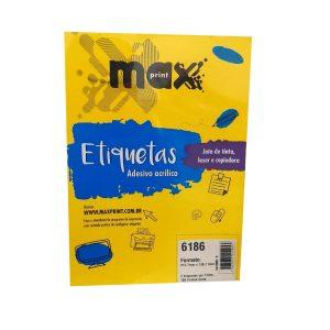 ETIQUETA 6186 C/ 100 FLS – MAXPRINT