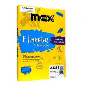 ETIQUETA A4356 C/ 100 FLS – MAXPRINT