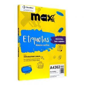 ETIQUETA A4362 C/ 100 FLS – MAXPRINT