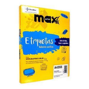 ETIQUETA A4355 C/ 100 FLS – MAXPRINT