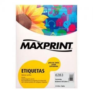 ETIQUETA 6283 C/ 25FLS – MAXPRINT