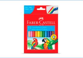 CANETINHA 12 CORES – FABER CASTELL