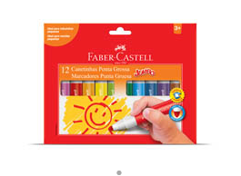 CANETINHA 12 CORES JUMBO – FABER CASTELL