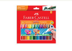 CANETINHA 24 CORES JUMBO TRIANG – FABER CASTELL