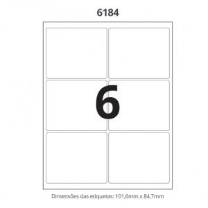 ETIQUETA 6184 C/ 100 FLS – MAXPRINT