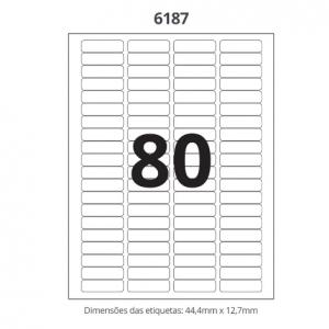 ETIQUETA 6187 C/ 100 FLS – MAXPRINT