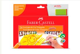 LÁPIS DE COR 24 CORES JUMBO – FABER CASTELL