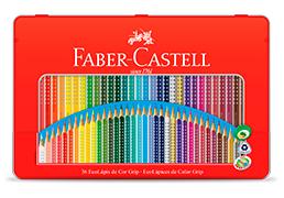 LÁPIS DE COR 36 CORES GRIP – FABER CASTELL
