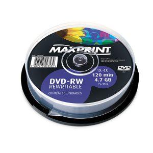 DVD-R-RW UND 120 MIN – MAXPRINT