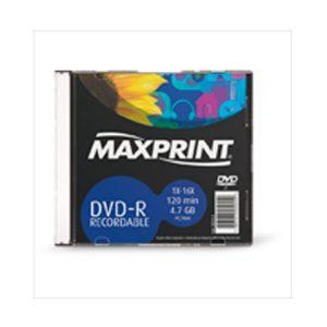 DVD-R C/ EMB ACRILICA 120 MIN MAXPRINT