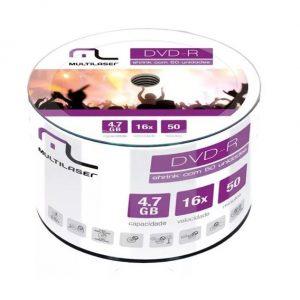 DVD+R TUBO COM 50 DV060-050 – MULTILASER