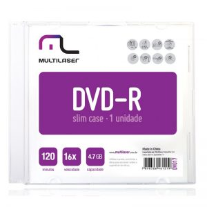DVD+R EMBALAGEM ACRÍLICA DV017 – MULTILASER