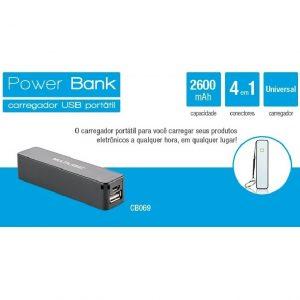 CARREGADOR POWERBANK CB069 2600A – MULTILASER