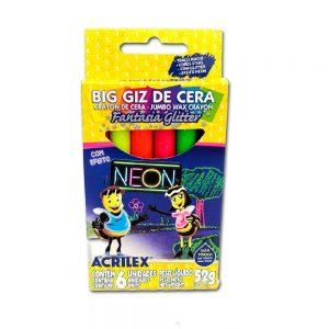 GIZÃO DE CERA NEON 06UN – ACRILEX
