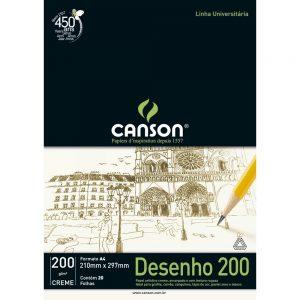 BLOCO DESENHO A4 20FLS CREME 200GR – CANSON