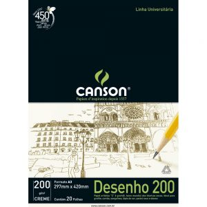 BLOCO DESENHO A3 20FLS CREME 200GR – CANSON