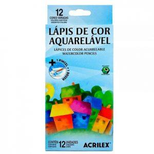 LÁPIS DE COR 12 CORES AQUARELÁVEL – ACRILEX