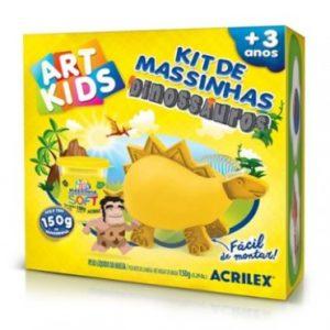 KIT DE MASSINHAS DINOSSAURO 150GR AMARELO – ACRILEX