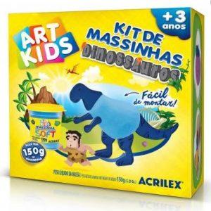 KIT DE MASSINHAS DINOSSAURO 150GR AZUL – ACRILEX