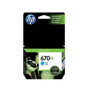 CARTUCHO 670XL CZ118AB CIANO 7.5ML – HP
