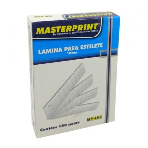 LÂMINA LARGA P/ ESTILETE C/10 – MASTERPRINT