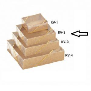 CAIXA KRAFT LISA C/TAMPA TRANSPARENTE KV-2 – PALONI
