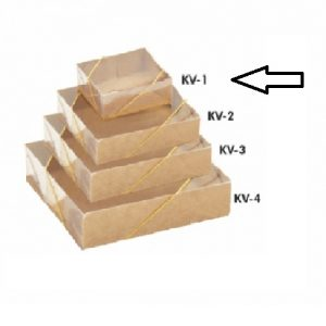 CAIXA KRAFT LISA C/TAMPA TRANSPARENTE KV-1 – PALONI