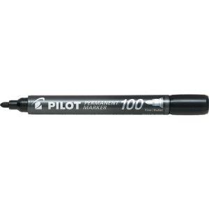 MARCADOR PERMANENTE SCA-100 RED. PRETO – PILOT