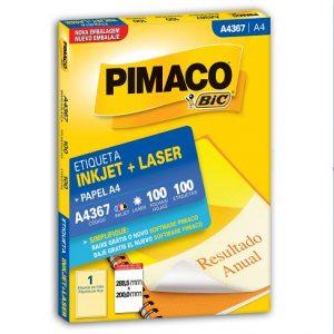 ETIQUETA A4367 C/100 FLS- PIMACO