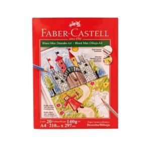 BLOCO DE DESENHO A4 20FLS 140GR – FABER CASTELL