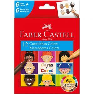 CANETINHA 12 CORES CARAS E CORES – FABER CASTELL