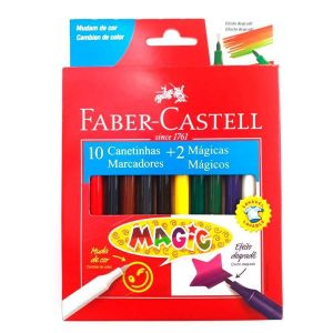 CANETINHA 10 CORES + 2 MAGIC – FABER CASTELL