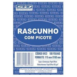 RASCUNHO C/ PICOTE 115X160MM 100FLS – SÃO DOMINGOS
