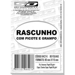 RASCUNHO C/ PICOTE 80X115MM 80 FLS – SÃO DOMINGOS