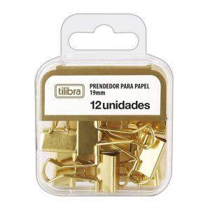 BINDER CLIPS 19MM DOURADO – TILIBRA