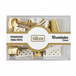 BINDER CLIPS 25MM DOURADO – TILIBRA