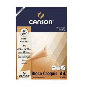 BLOCO PAPEL CROQUIS A4 50FLS – CANSON