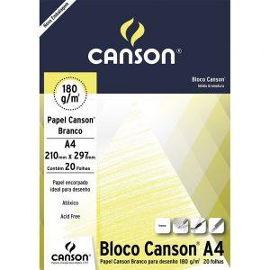BLOCO PAPEL DESENHO A4 20FLS 180GR – CANSON