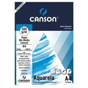 BLOCO AQUARELA A4 12FLS 300GR – CANSON