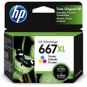 CARTUCHO 667XL 3YM80AL 8ML COLORIDO – HP