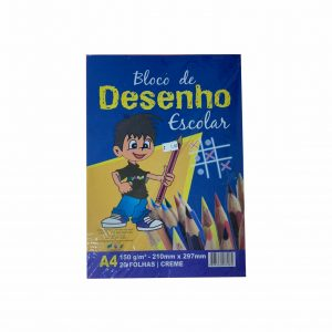 BLOCO DE DESENHO A4 CREME GR150 20 FLS – OFF PAPER