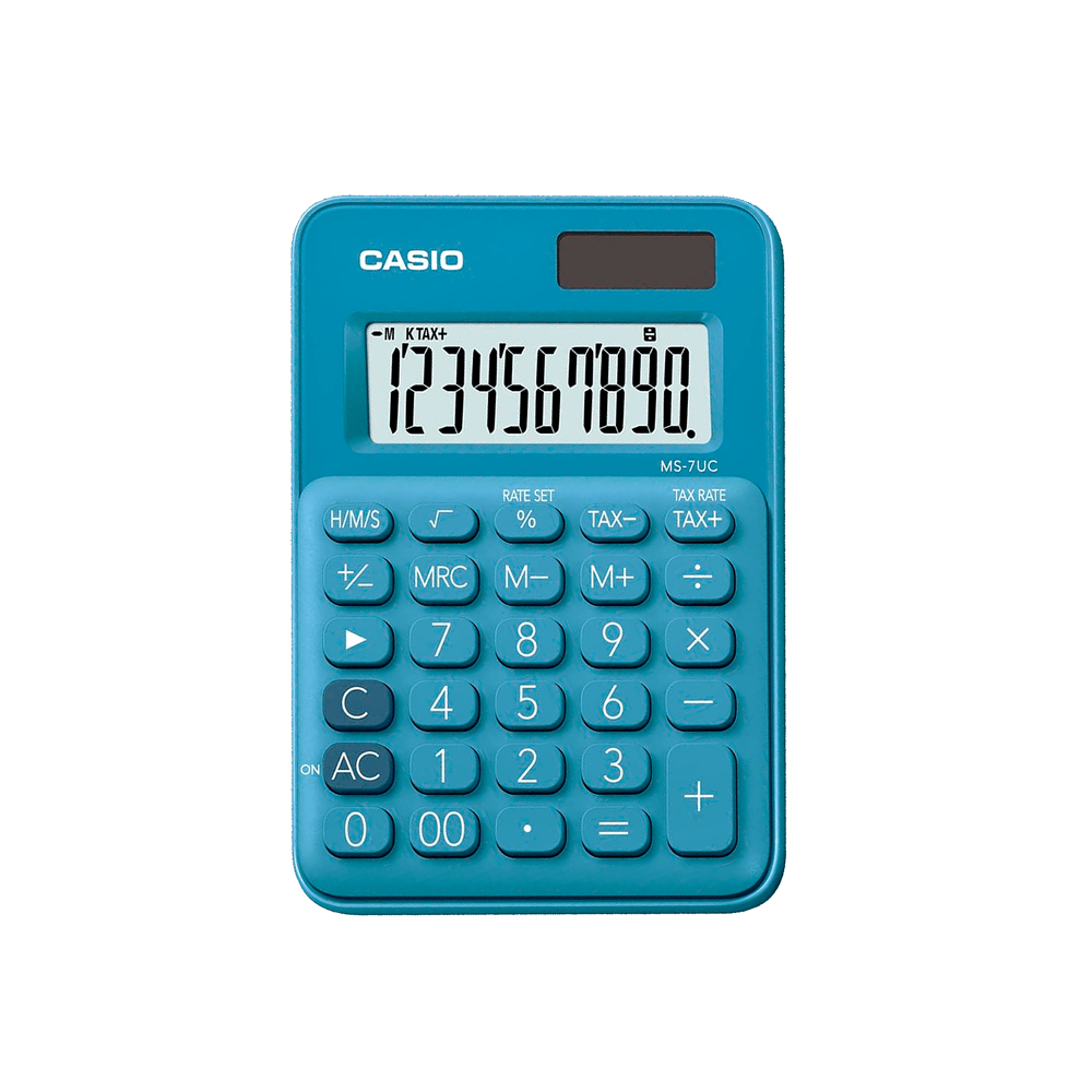 CALCULADORA 10 DIG MS-7UC-BU – CASIO