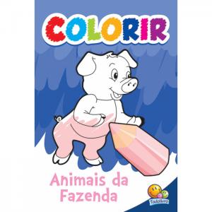 COLORIR: ANIMAIS DA FAZENDA – TODO LIVRO